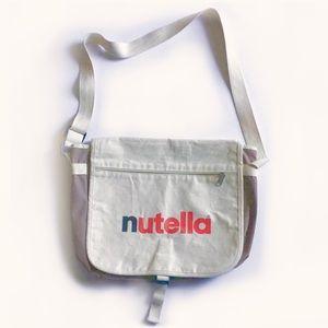 Nutella Canvas Messenger Tote Bag w/ Adjust Strap
